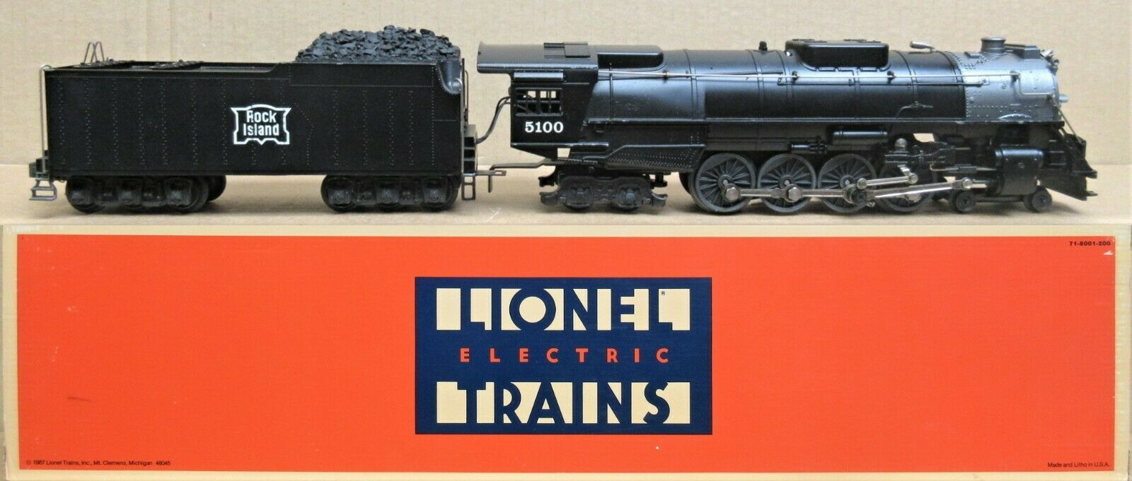 Lionel 618001 Rock Isle 484 Motore A Vapore Con Suoni di vapore LN con scatola