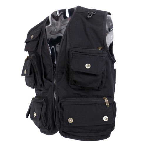 Fly Fishing Vest Hunting Jacket Work Utility Vest Multi Pocket Waistcoat
