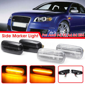 Paire-DEL-Side-Marker-signal-lumineux-Fit-Audi-A3-S3-A4-S4-RS4-B6-B8-A6-S6-RS6-C5-C7