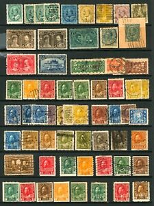 Canada #89 - #120 1903-1925 King Edward VII, King George V, Mint & Mostly Used