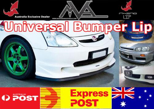 Universal Bumper Lip Spoiler Splitter Chin Trim Rubber VW Scirocco Quattro CC
