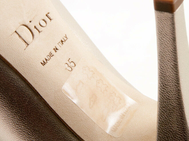 New Christian Dior Miss Dior open toe Gold Patent Patent Patent leather schuhe 35 US 5 6850aa