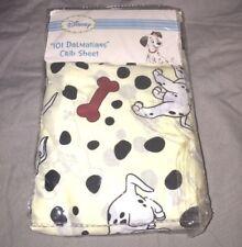 drap housse neuf coton disney dalmatiens pour lit de bebe 70 x 130 cm