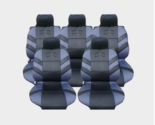 5x Sitze Autositzauflage Auflage Autositz Schutz Grau Hochwertig Neu Universal