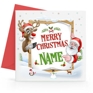 Merry Christmas Nephew.Details About Personalised Christmas Card Son Daughter Nephew Niece Grandson Granddaughter
