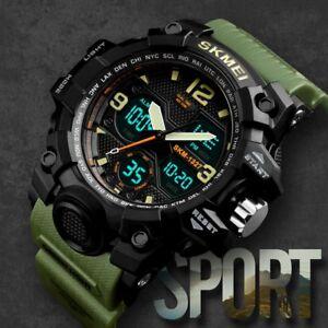 SKMEI-Mens-Sport-LED-Digital-Alarm-Waterproof-Chrono-Military-Quartz-Wrist-Watch
