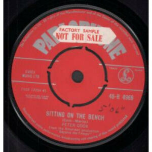 PETER-COOK-Sitting-On-The-Bench-7-034-VINYL-UK-Parlophone-B-W-End-Of-The-World