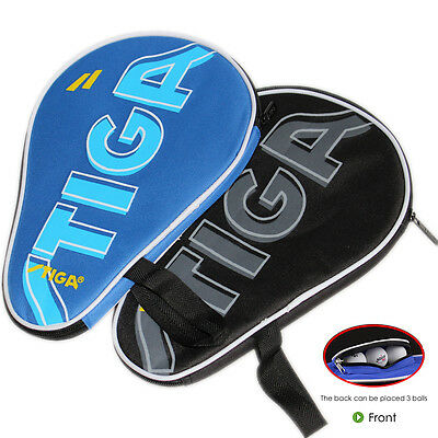 NEW Stiga Table Tennis Bat Case Ping Pong Paddle Bag Cover Portable Black    Blue c87268182fdc9