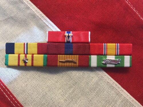 Marine Corps Combat Action Good Conduct, Bronze Star, Vietnam War Mounted Set 7