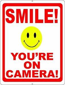 Free Aus Post 13cm x 8.5cm SMILE YOUR ON VIDEO CAMERA SECURITY VINYL STICKER