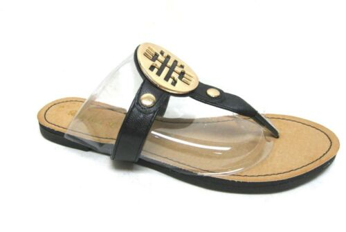 WOMEN/'S NEW THONG FLIP FLOPS FLAT GOLD ORNAMENTS ACCENTED SLIPPERS SANDALS SHOES