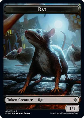 4 Rat Token Throne of Eldraine