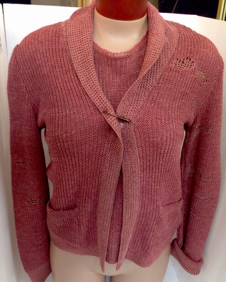 Ralph Lauren Collection Topset Nwt  Large Rosa Farbe Knit