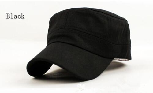 SS Cool Men Vintage Plain Adjustable Military Army Cap Castro Cadet Patrol Hat