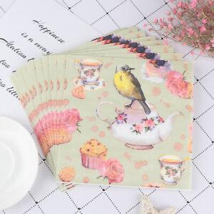 20pcs-Flower-and-Bird-Decoupage-Napkin-Paper-Tissue-for-Xmas-Wedding-Dec-P8CA
