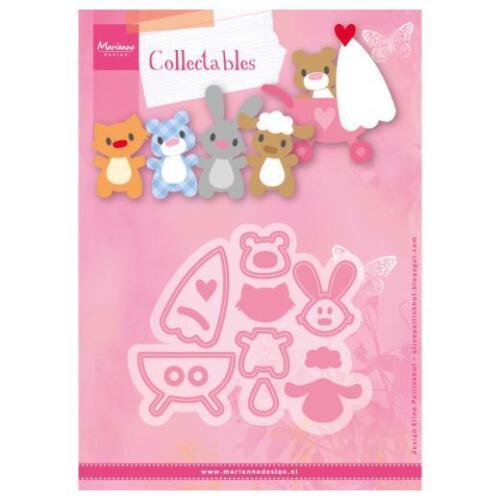 Eline/'s Baby Animals /& Pram COL1422 Marianne Design Collectables Cutting Dies