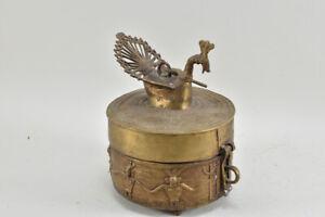 g71d82- Bronze Deckeldose, Asiatika