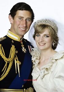 Image Is Loading PRINCESS DIANA Amp PRINCE CHARLES WEDDING A4 GLOSSY