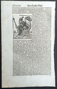 1574-Sebastian-Munster-Antique-Engravings-to-Text-of-Tartar-King-in-Central-Asia