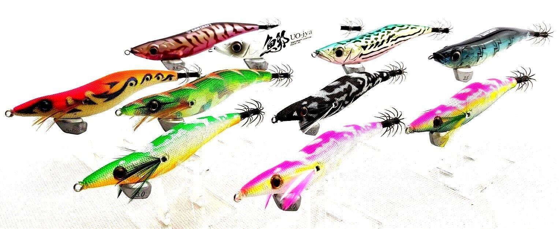 Gan Craft Egi 3.5 UO-Jya x4 egi-jyax6 size 3 3.5 squid jigs w evergreen egi box