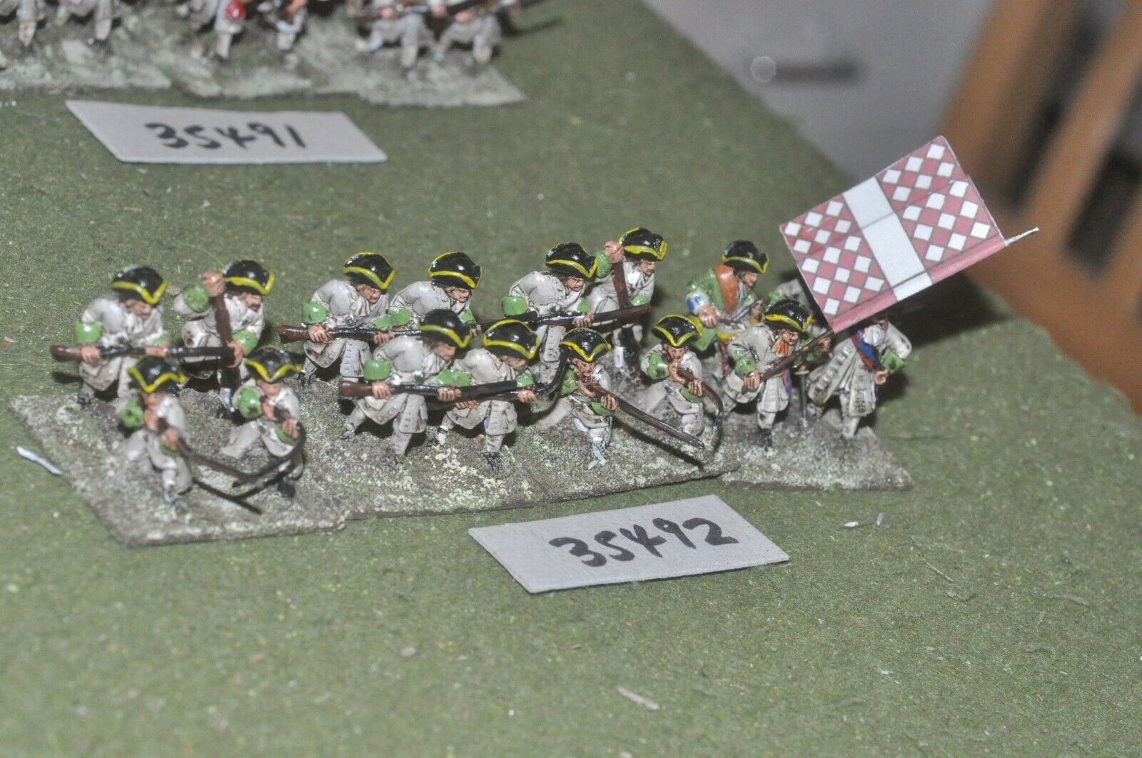 25mm marlburian   french - regiment 16 figures - inf (35492)