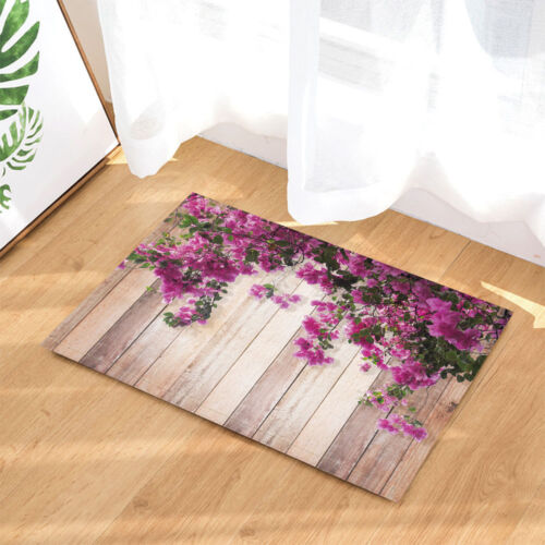 Pink Bougainvillea flower with leaves Shower Curtain Bathroom Fabric /& 12hooks