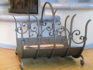 Hand-Forged-Wood-Rack-Fireplace-Log-Rack-Tool-Handmade
