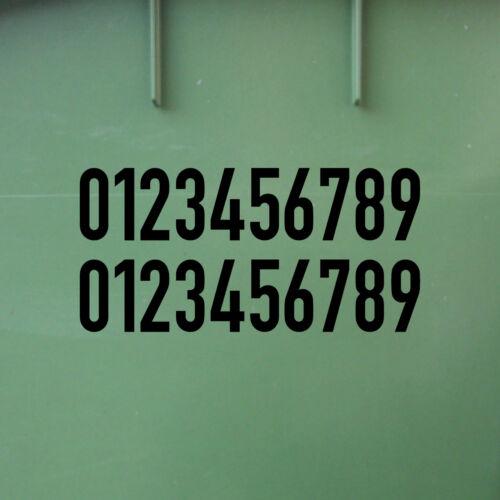 10 Autocollant 2 cm blanc DIN 1451 chiffres chiffres Nr Numéro de maison transport POLICE