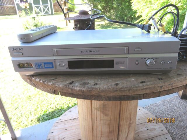 Sony SLV-N750 VCR VHS Hi-Fi Stereo 19 Micro Head Player Recorder Commercial Skip