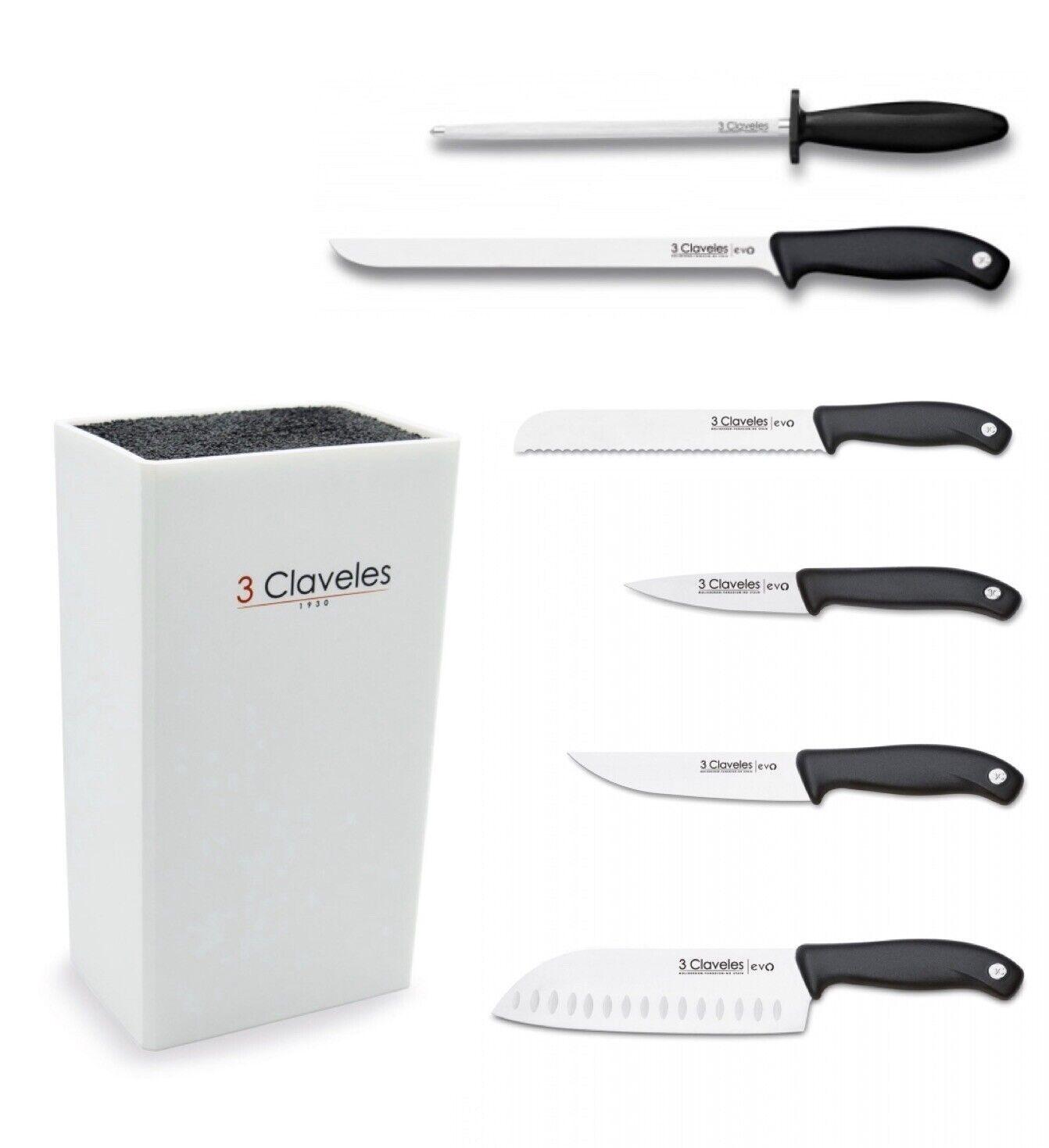 Set De Cuchillos Cocina 3 Claveles Linea Evo