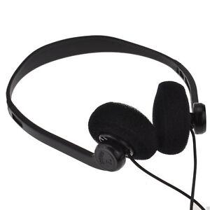Pro-Signal-Stereo-ausziehbar-Over-Head-Ohrhoerer-mit-3-5mm-Jack-1-2m