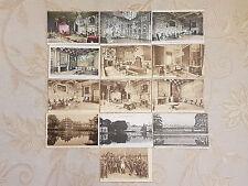 Lot Of 13 Antique Original Postcards - Fontainebleau, France