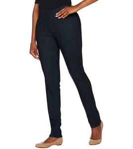 Denim & Co. Petite Perfect Smooth Waist Straight Leg Jeans Plus 18 ANTIQUE DENIM