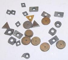 Lot d'environ 20 plaquettes de tournage triangulaires + circulaires + parallép