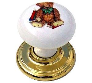 Glorieux Teddy Bear Boutons 37 Mm Traditionnel Céramique Porcelaine Armoire Tiroir Bouton (129)-afficher Le Titre D'origine