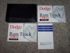 2001 Dodge Ram Truck Owner Operator User Guide Manual ST SLT Cummins Diesel 5.9L