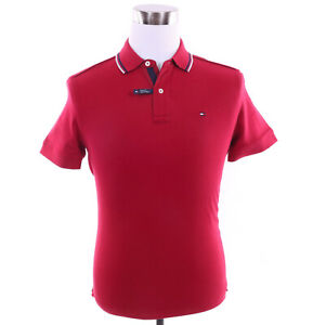 Tommy-Hilfiger-Men-039-s-Short-Sleeve-Solid-Custom-Fit-Polo-Shirt-0-Free-Ship
