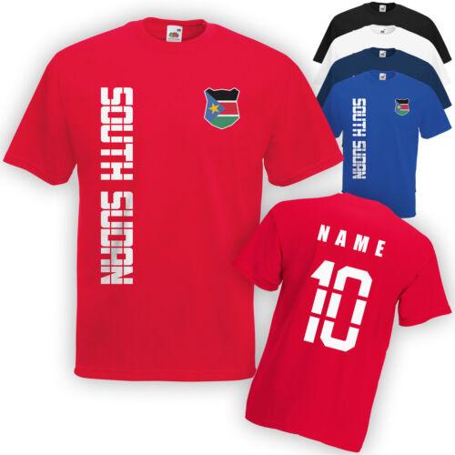 Name /& Nummer S M L XL XXL Südsudan South Sudan T-Shirt Trikot incl