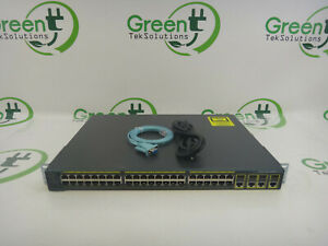 Cisco-2960G-Series-WS-C2960G-48TC-L-48-Port-Gigabit-Ethernet-Switch-w-Rack-Ears