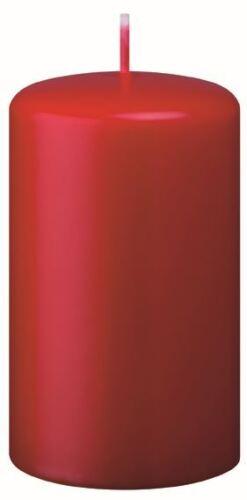 Stumpenkerzen Erdbeere Rot 12x6 cm Made in Germany 4er SetAdventskranzkerzen