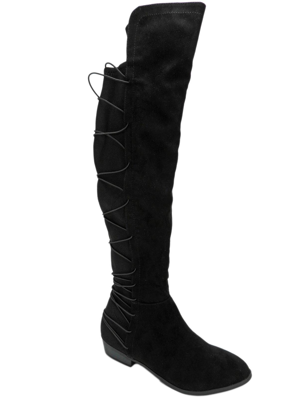 Material Girl Mujer Calyn sobre la rodilla con botas negras M