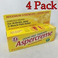 Aspercreme Pain Relieving Creme W/aloe, 1.25oz, 4 Pack 041167057018s220