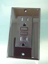 10 pc NEW 15A Tamper Resistant TR GFCI Outlet Receptacle 15 Amp BLACK w//LED