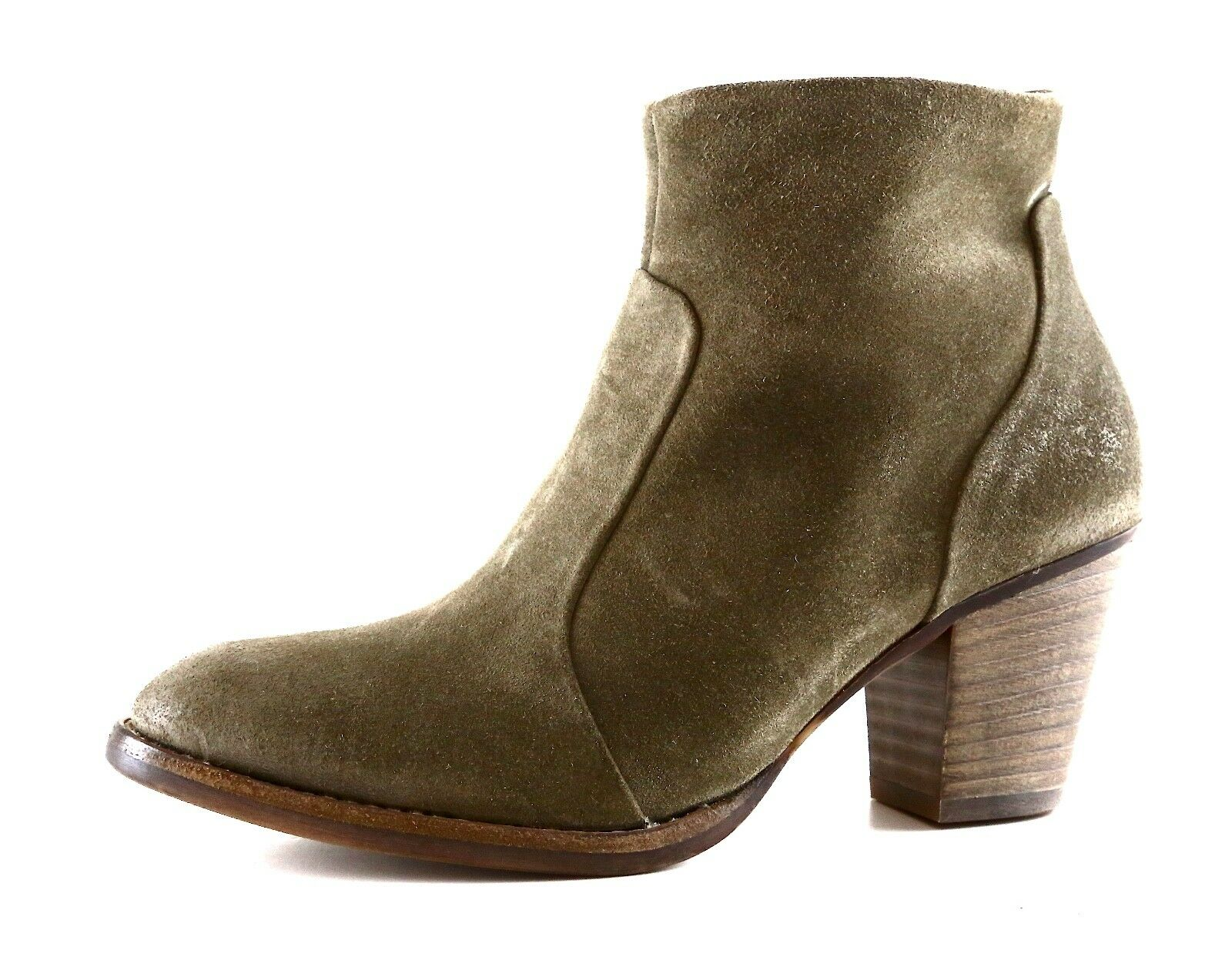 Paul Green Reese Suede Ankle Bootie Olive Women Sz 3.5 UK 5823