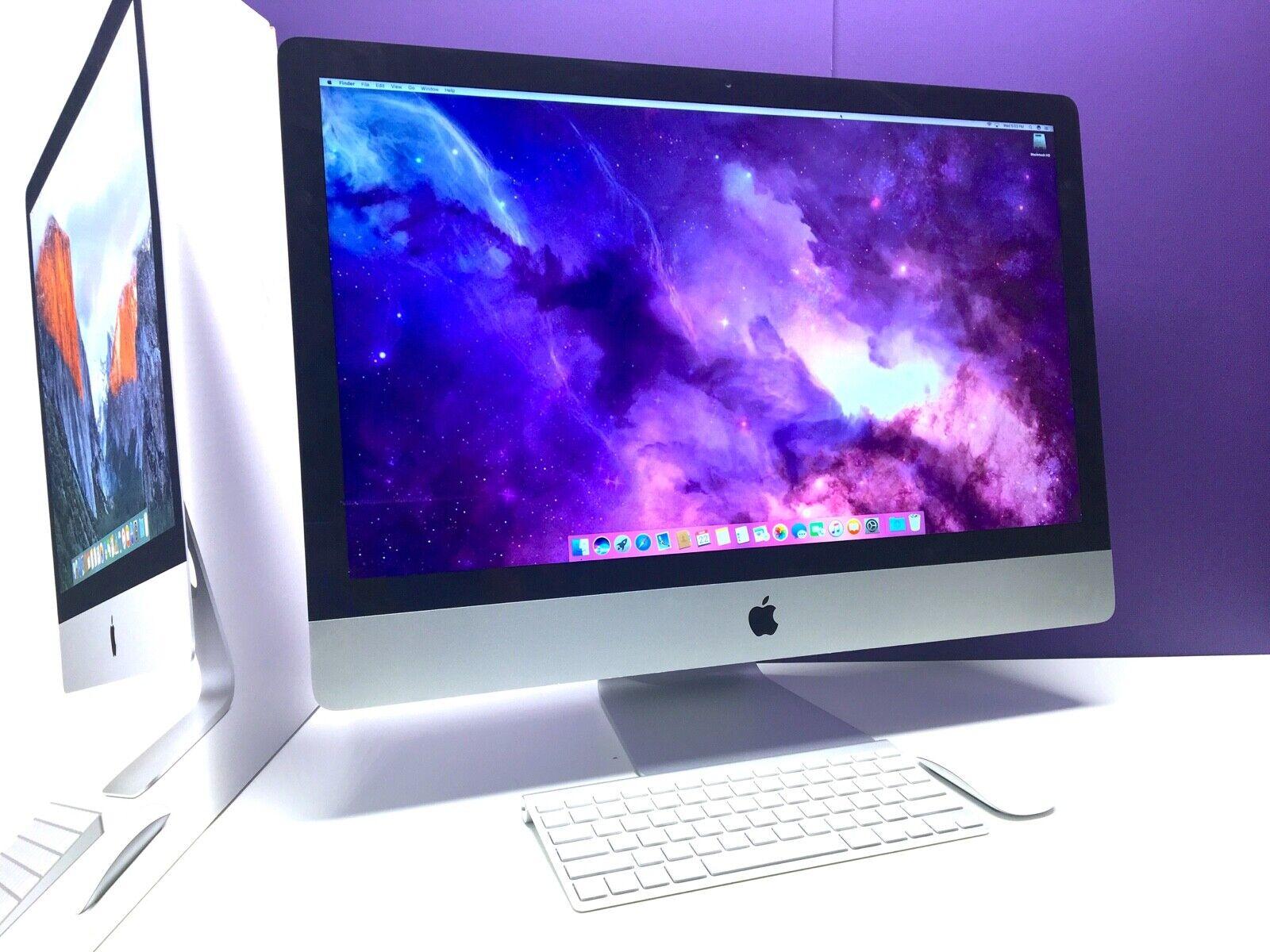 Apple iMac 27 SLIM Display | i7 QUAD | 1TB SSD 32GB | All-in-One Desktop OS2020. Buy it now for 1249.00