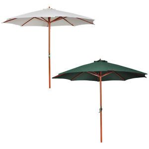 300 cm sonnenschirm kurbel 3 m marktschirm garten landhaus schirm sonnenschutz ebay. Black Bedroom Furniture Sets. Home Design Ideas