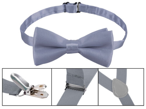 Kids Adjustable Bowtie Sets Suspender with Bow Ties