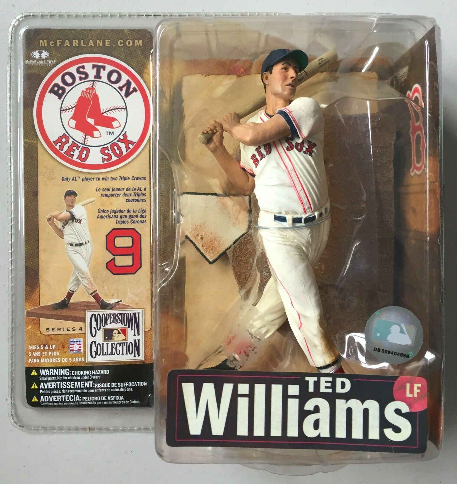 MLB Boston Red Sox TED WILLIAMS Action Figure McFarlane Toys Cooperstown