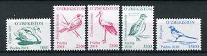 Uzbekistan-2018-MNH-Birds-Definitives-Pt-III-5v-Set-Storks-Swans-Magpies-Stamps