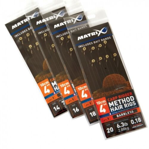 16 Feeder gebundene Vorfächer Pellet carp bream Fox Matrix Method Hair Rigs Gr